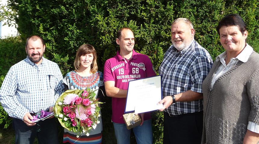 Ronald Schönig feiert sein 25 jähriges Betriebsjubiläum bei der Firma Heppenheimer