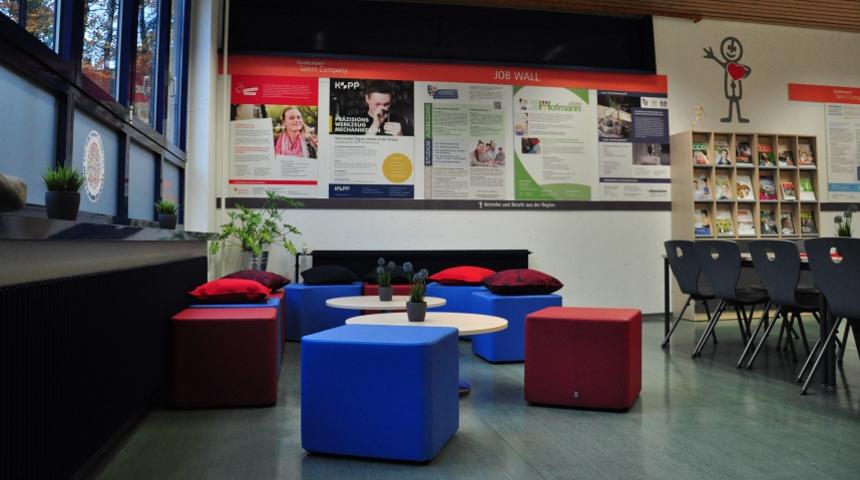 Jobwall der Talent Company MPS Gadernheim